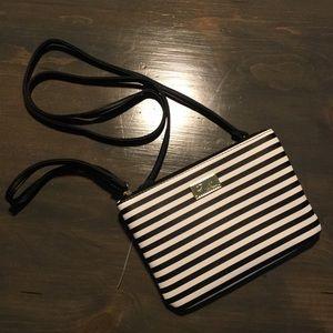 Betsy Johnson   Striped Crossbody / Wristlet Bag